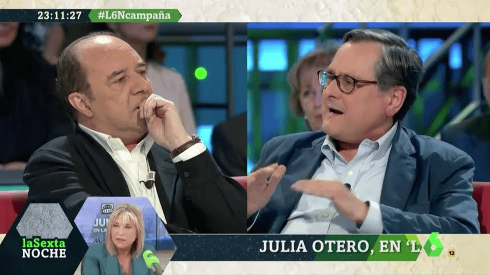 Foto: Jesús Maraña y Marhuenda, en 'La Sexta noche'. (Atresmedia).