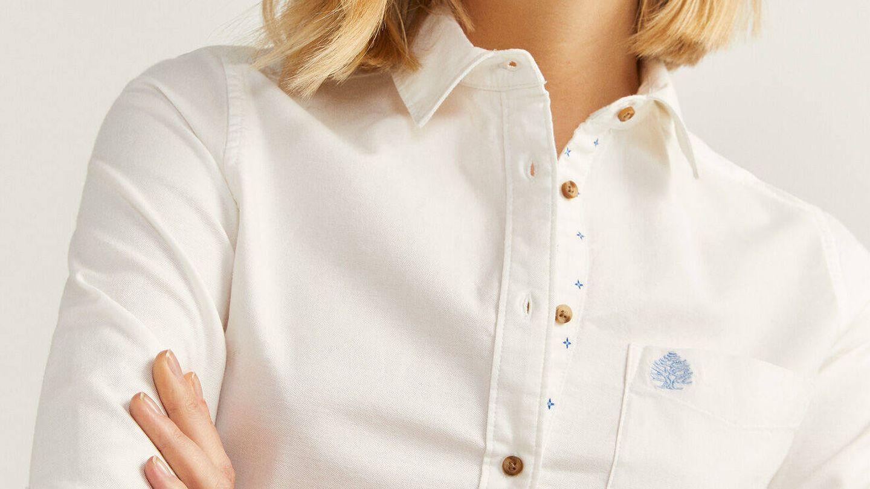 Camisa blanca de Springfield. (Cortesía)