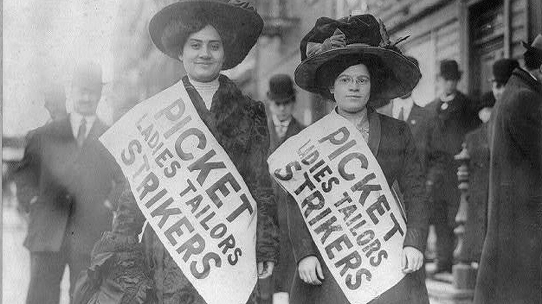 Piquetes de la huelga de las camiseras en EEUU.