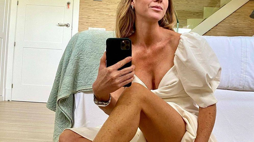 Foto: Amelia Bono posa con un vestido de temporada. (Redes)
