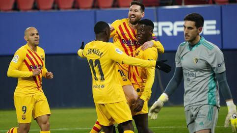 El Barça se sube al tren de LaLiga con dos latigazos de Alba y Moriba en el Sadar (0-2)