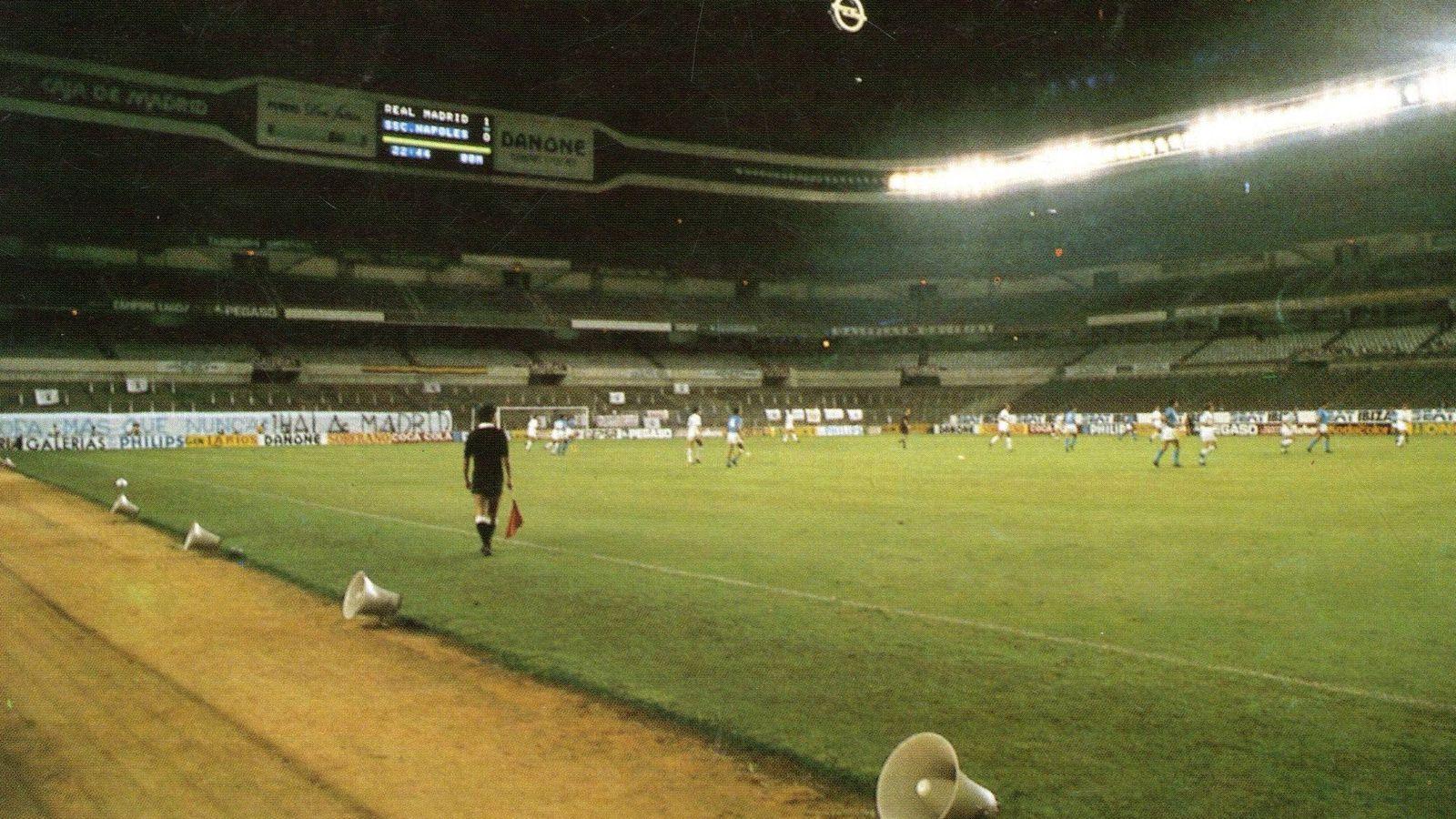 Foto: El Bernabéu vacío durante el Real Madrid-Nápoles