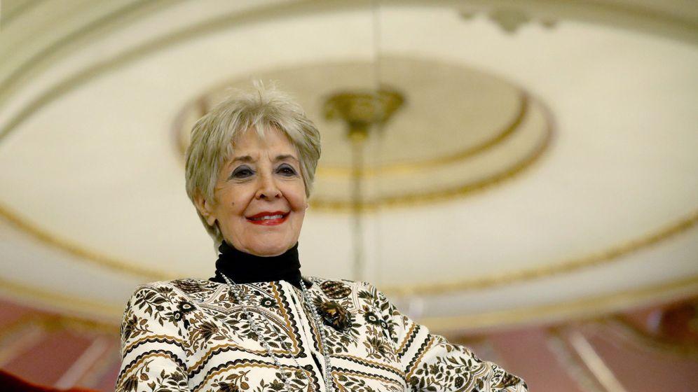 Foto: Concha Velasco en la presentación de la obra de teatro el funeral. (Efe)