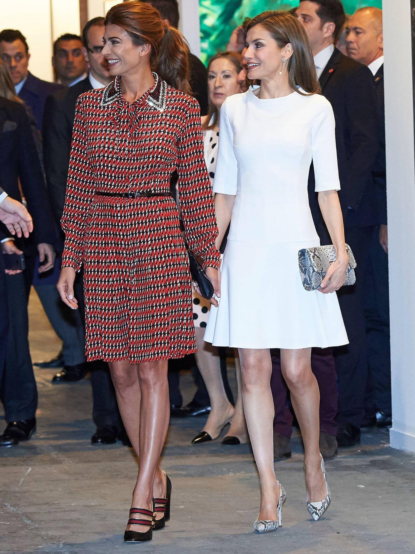 La Reina, con Juliana Awada en ARCO 2017. (LP)