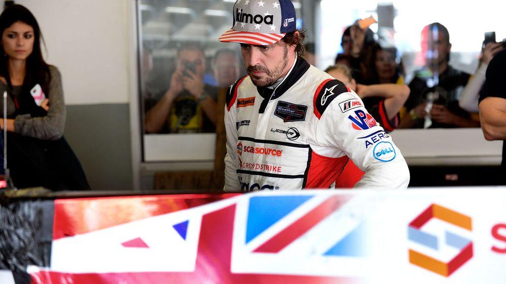 Foto: Fernando Alonso en las 24 horas de Daytona. (EFE)