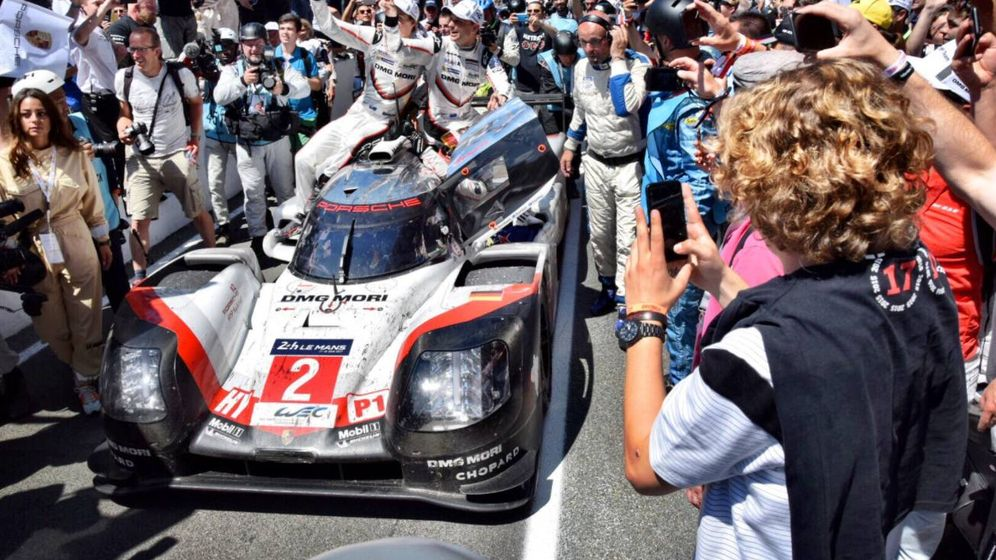 Foto: El coche ganador de las 24 Horas de Le Mans 2017 (Porsche LMP1 Team)