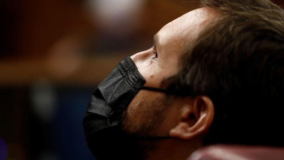Foto: El presidente del PP, Pablo Casado, durante la sesión de control al Ejecutivo en el Congreso. (EFE)
