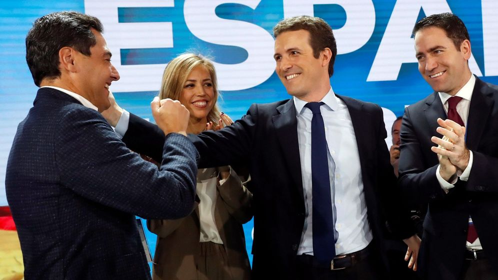 Foto: Clausura de la convención nacional del PP. (EFE)
