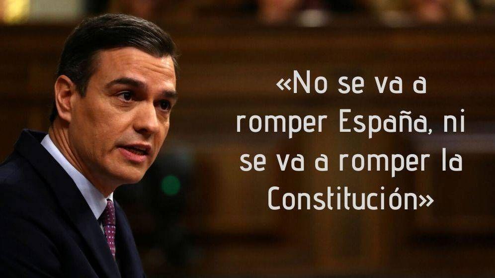 Foto: Las frases de Pedro Sánchez durante la investidura (Reuters)
