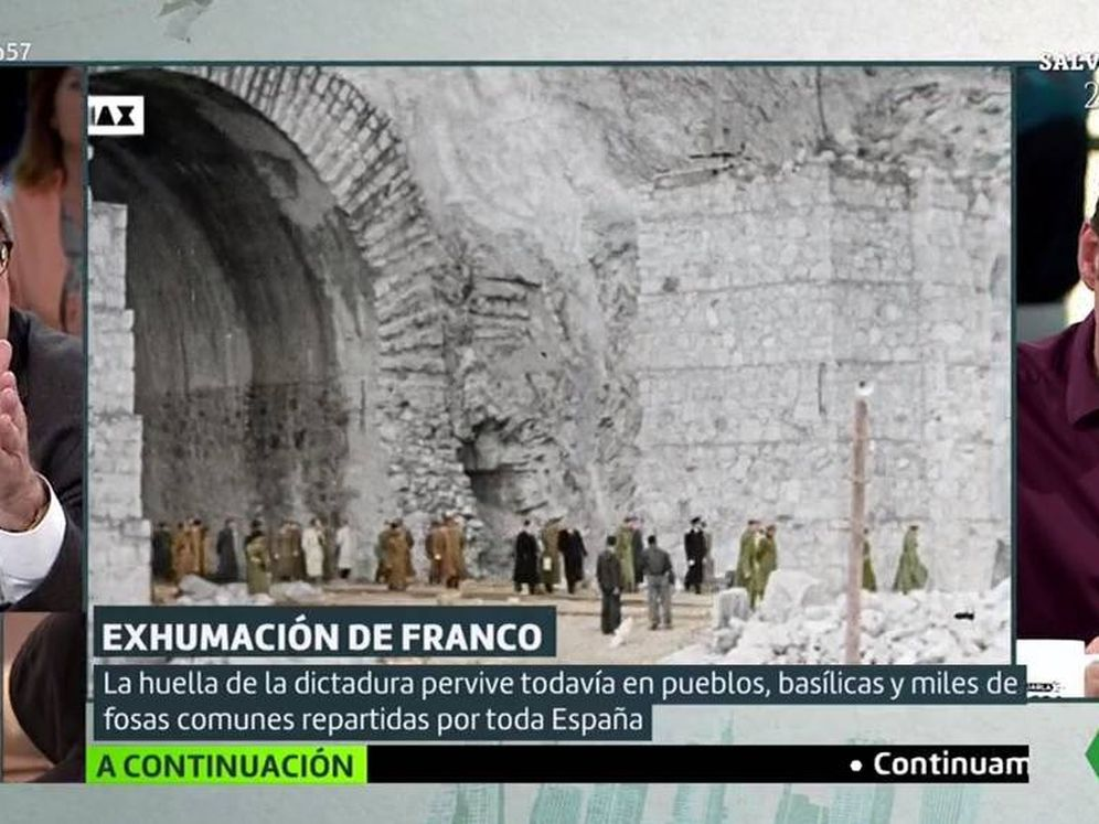 Foto: Francisco Marhuenda y Jesús Cintora, en el plató de 'Liarla Pardo'. (Atresmedia).