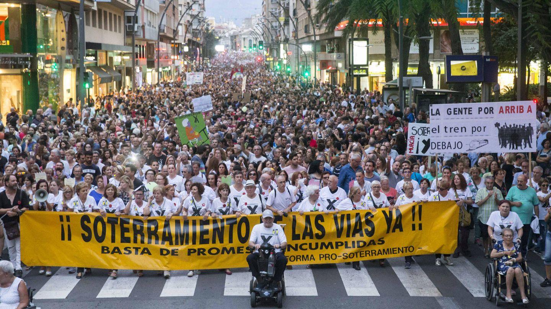 Imagen de la manifestación del pasado domingo.