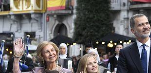 Post de La reina Sofía y Leonor,