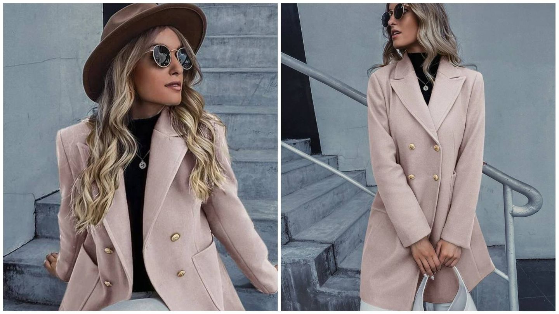 Abrigo rosa de Shein. (Cortesía)