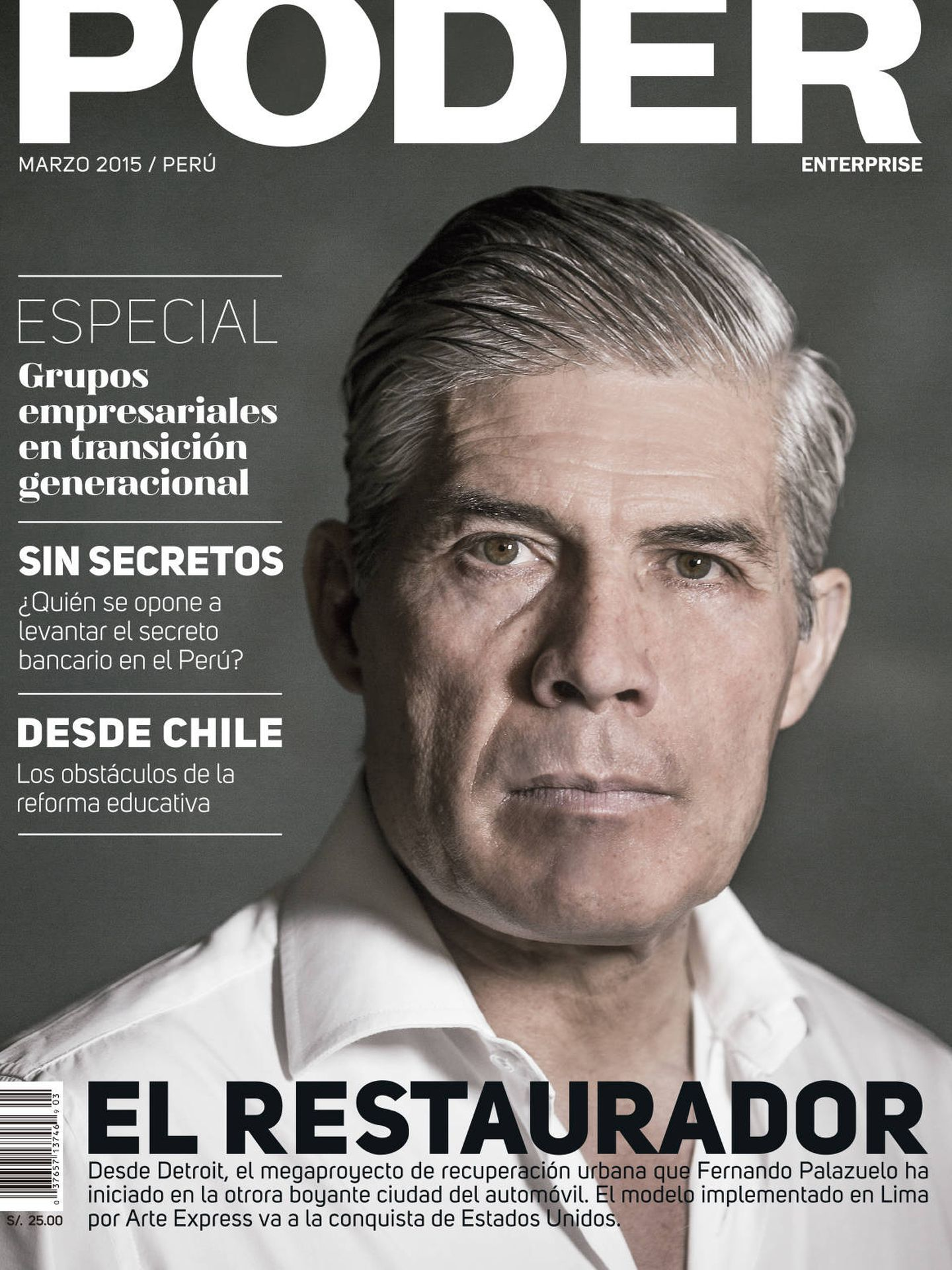 Fernando Palazuelo, en la revista 'Poder'.