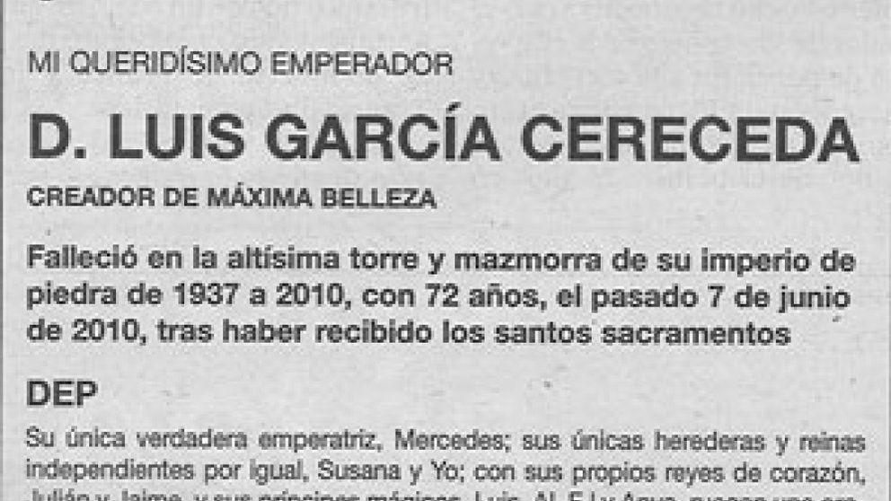 García Cereceda y la guerra de sus esquelas