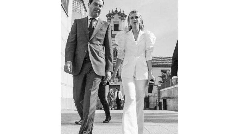 Manuela Villena y Juanma Moreno Bonilla. (Santana de Yepes / Junta de Andalucía)