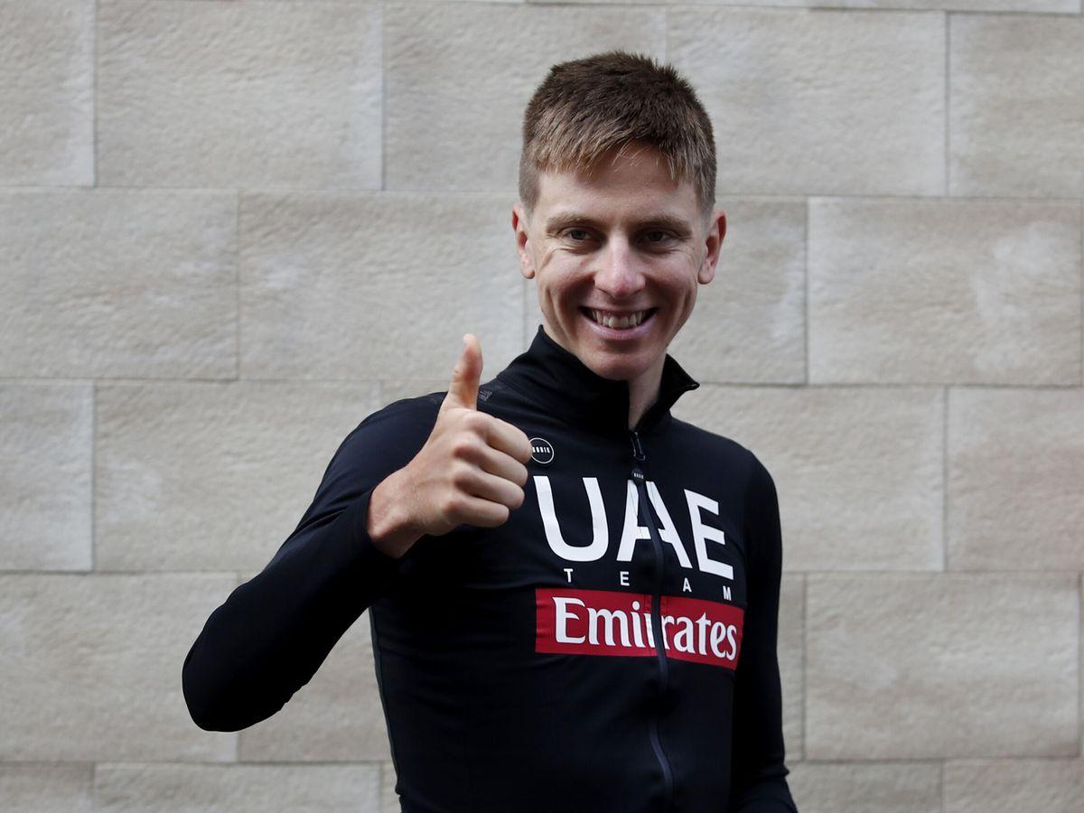 Foto: El ciclista esloveno Tadej Pogacar preparado para el Tour de Francia. (Efe)