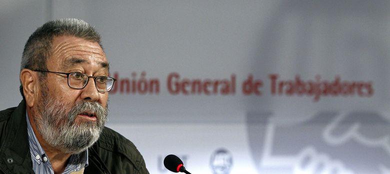 Foto: Rueda de prensa Cándido Méndez (EFE)