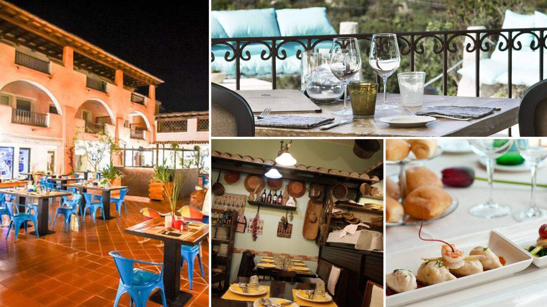 Siguiendo las agujas del reloj: Cuzco Beach; Finistredi Hotel; Ristorante Paco de Gliu Livi y el Restaurante Di Andrea e Graziella