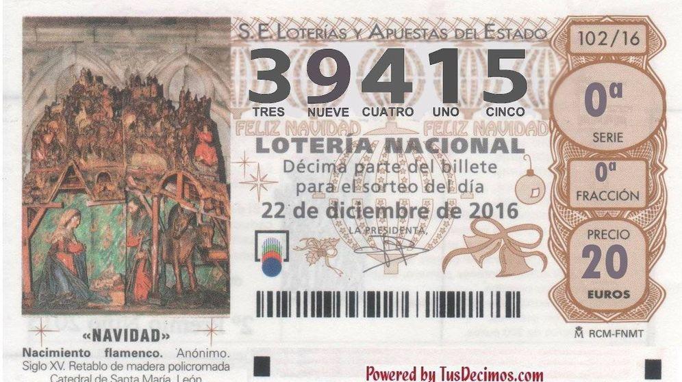Foto: El tercer quinto premio de la Lotería Nacional.