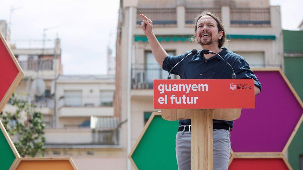 Foto: Pablo Iglesias, este fin de semana, en un acto en Barcelona. (EFE)