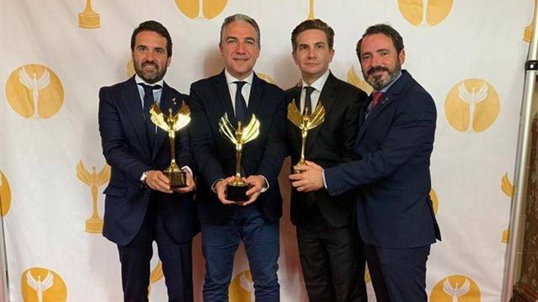 Foto: Elías Bendodo, Jacobo Florido, José Ramón Carmona y Aleix Sanmartín. (EP)