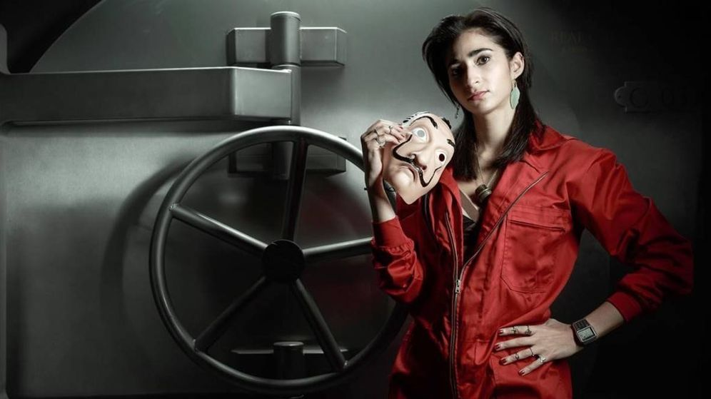 Foto: Alba Flores posando para 'La casa de papel'