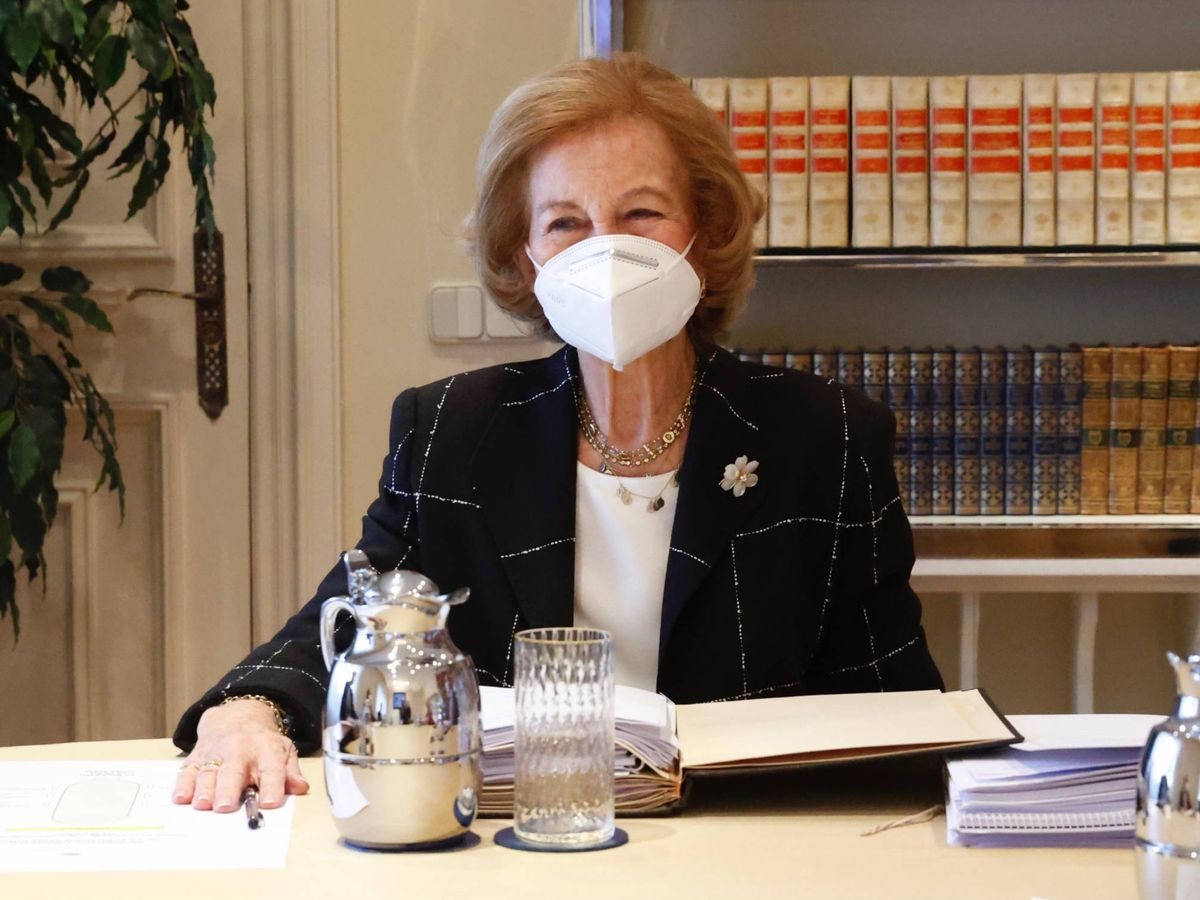 Foto: La reina Sofía, este martes en la reunión con la fundación que lleva su nombre. (Fundación Reina Sofía)