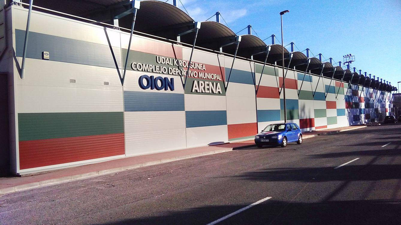 Foto: Instalaciones de la Oyonesa que dan cabida al centro de tecnificación del Athletic. (J. M. Alonso)