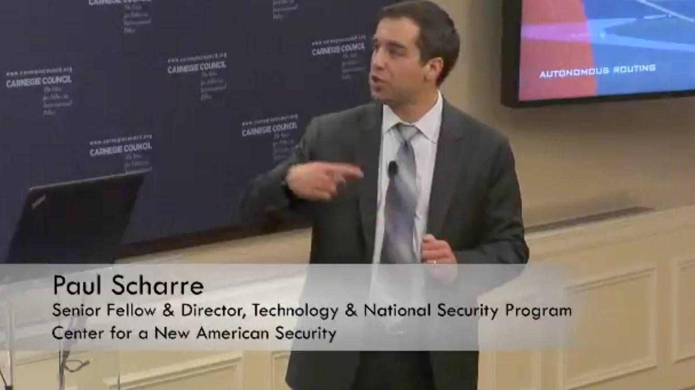 El analista de defensa Paul Scharre lleva años investigando los problemas de las armas autónomas (Fuente: CNAS)