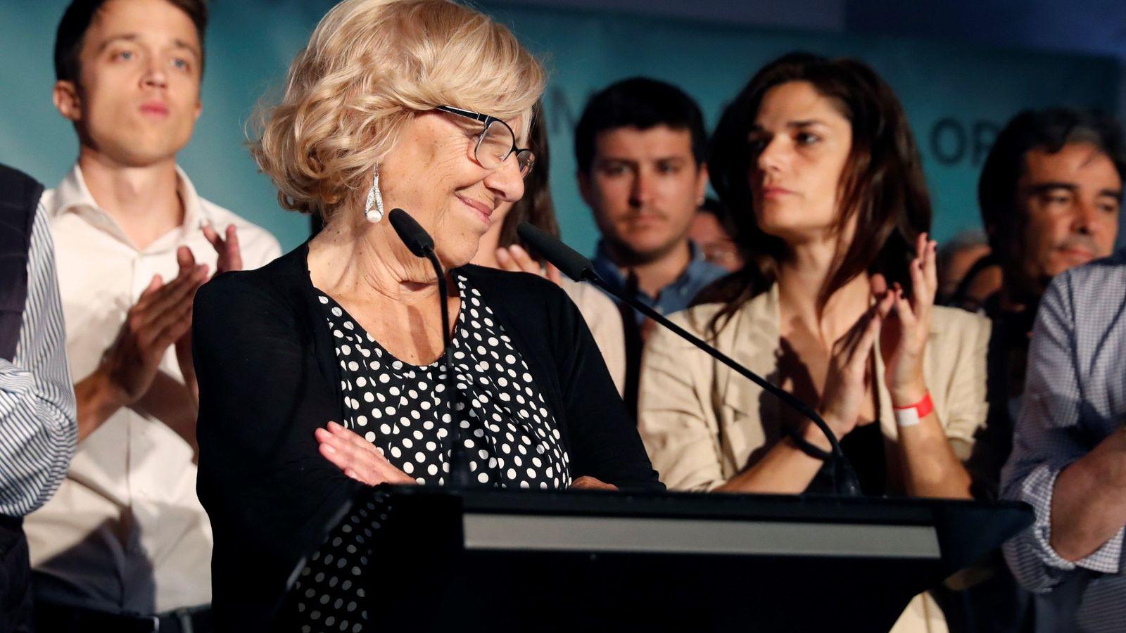 Foto: Manuela Carmena valora los resultados electorales. (EFE)