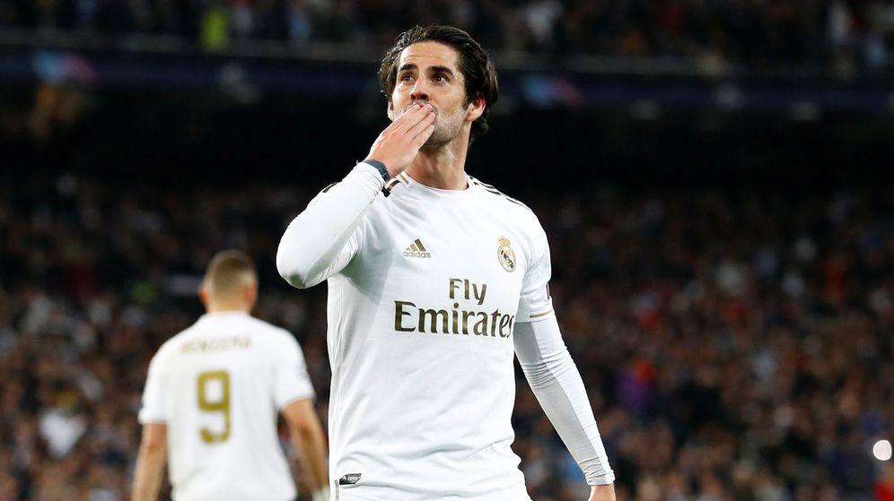 Foto: Isco, en plena celebración de un gol con el Real Madrid. (Reuters)