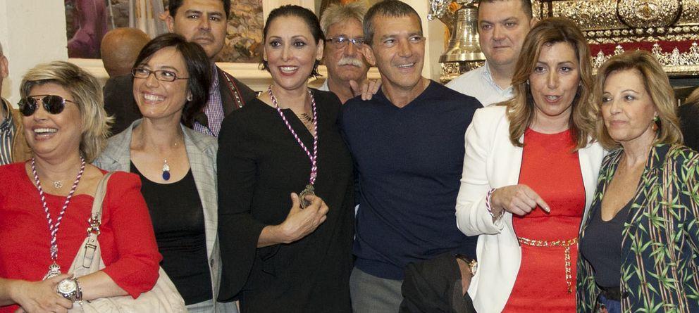Foto: La amistad de Banderas y María Barranco llega a la Semana Santa malagueña