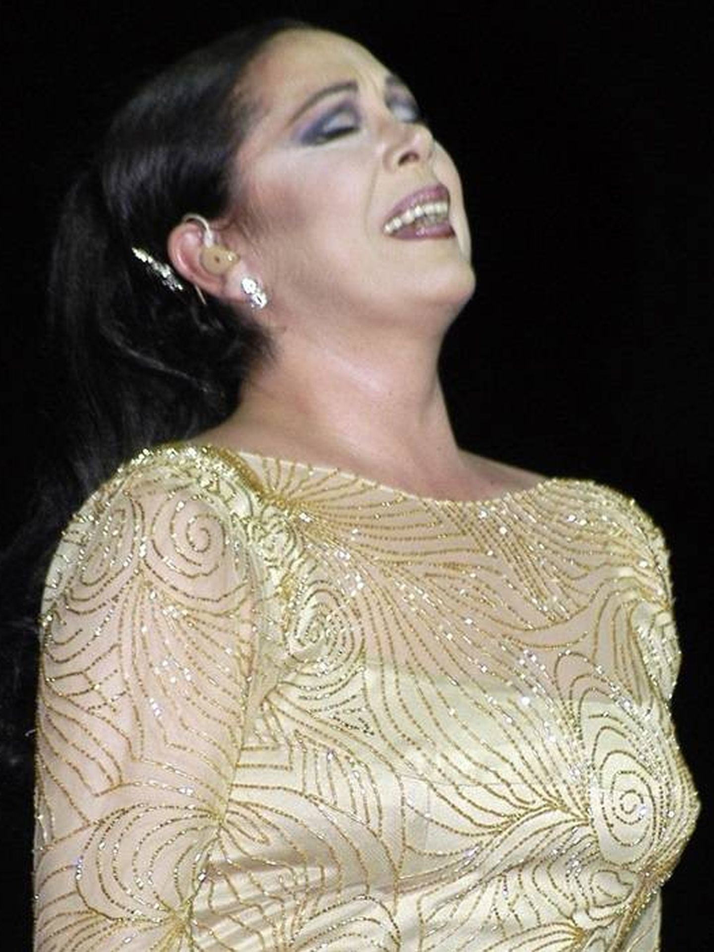 Isabel Pantoja en un concierto.(CORDON)