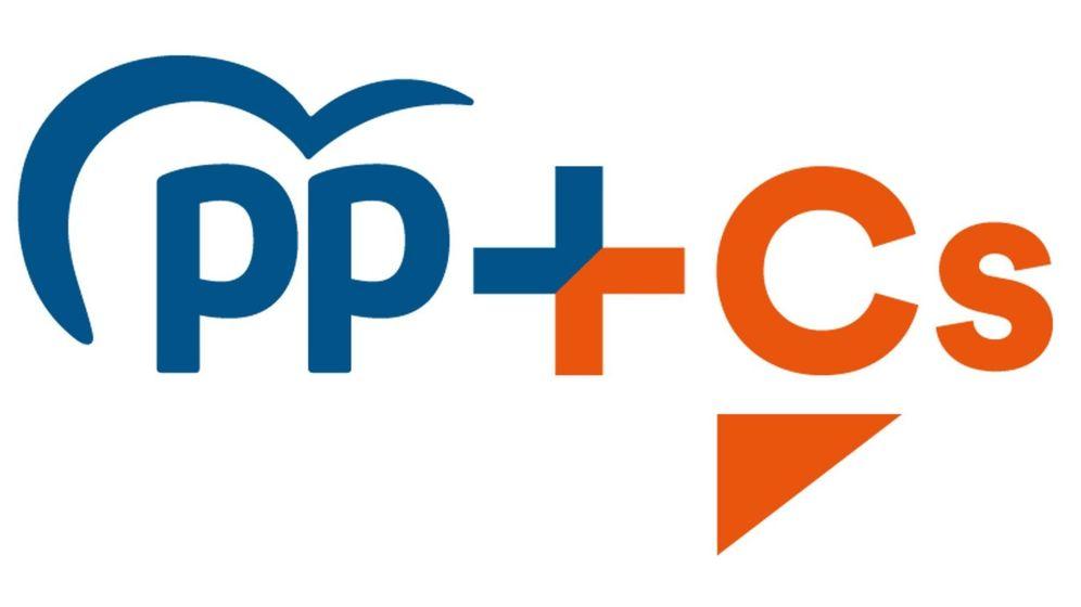 Foto: Imagen del logo de la coalición entre el Partido Popular y Ciudadanos, bajo el nombre PP + Cs. (EFE)