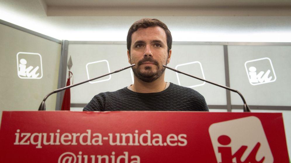 Foto: Rueda de prensa de Alberto Garzón. (EFE)