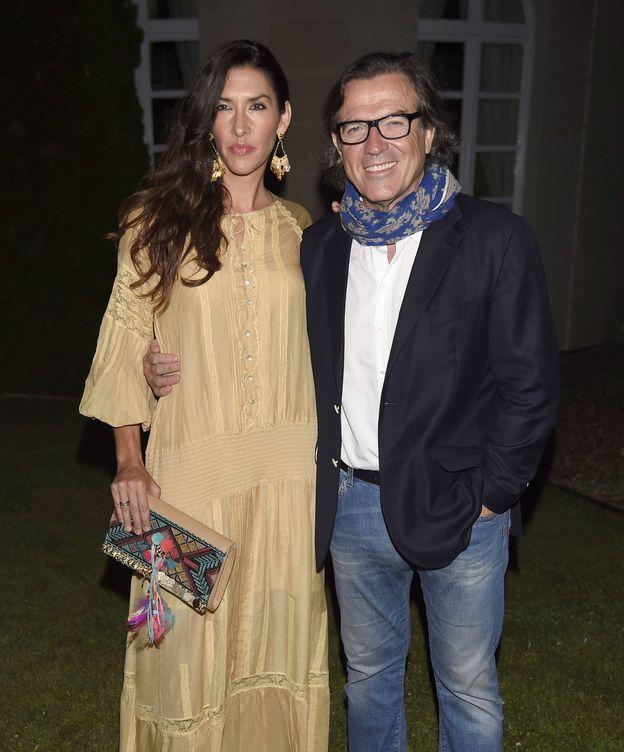 Foto: El periodista Pepe Navarro junto a su mujer, Lorena Aznar (Gtres)