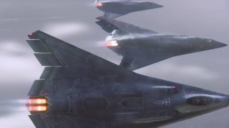 Rendering del caza de sexta generación del ejército americano (Northrop Grumman)