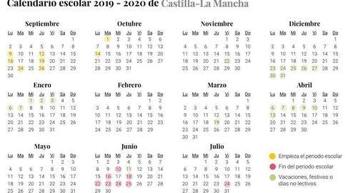 Calendario escolar 2019-2020 para Castilla-La Mancha: vacaciones, festivos y no lectivos
