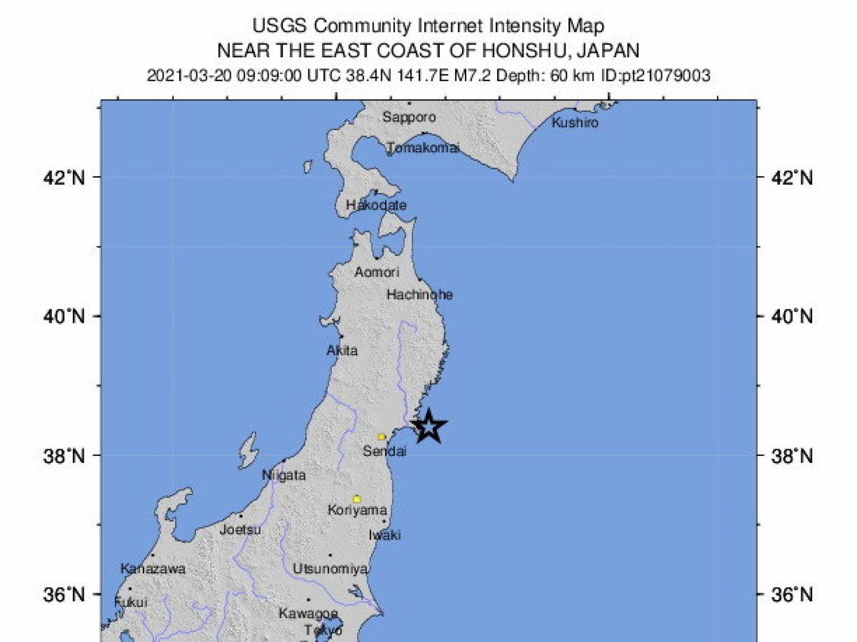 Foto: 7.2 earthquake hits near the east coast of honshzu, japan