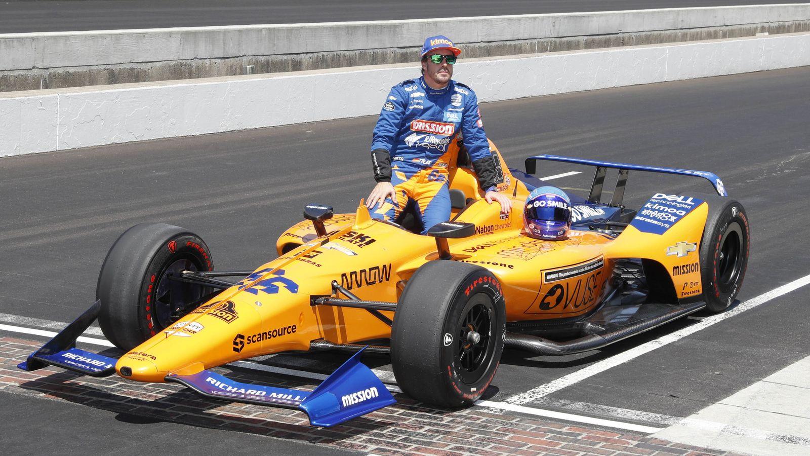 Foto: Fernando Alonso no se clasificó para las 500 Millas de Indianápolis 2019, su segunda vez en la cita estrella de la IndyCar. (USA TODAY Sports)