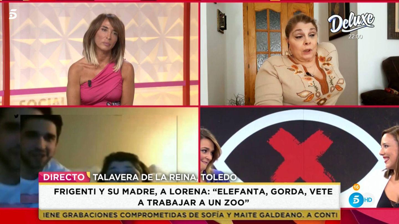 María Patiño, en 'Socialité'. (Mediaset)