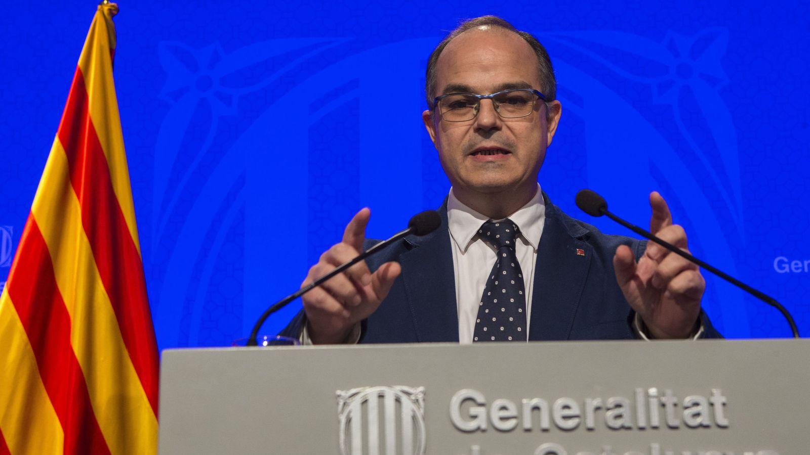Foto: El portavoz del Gobierno de la Generalitat Jordi Turull. (EFE)
