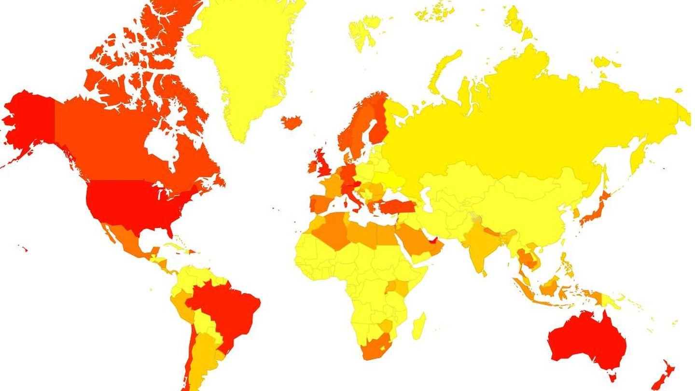 Cómo se reparte el coste por clic (CPC) de la página de Jimena en todo el mundo. (SolvedMethod)