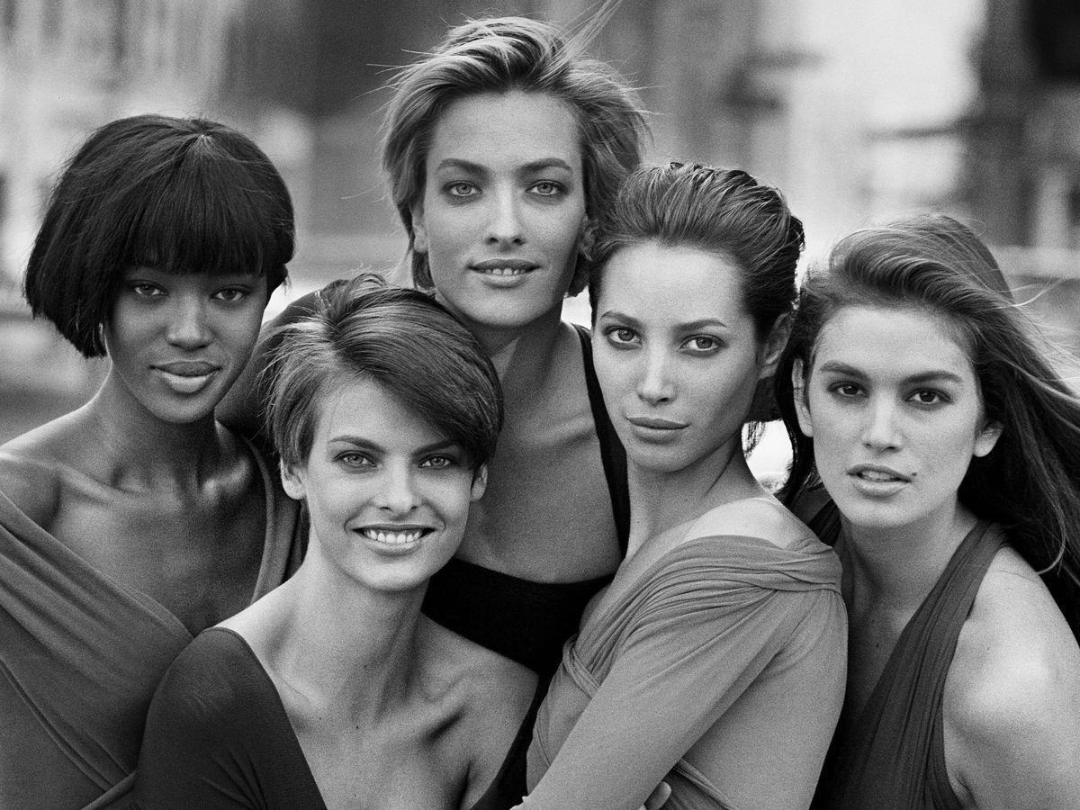 Foto: Algunas de las modelos más reconocidas de la década de los 90 fotografiadas por Peter Lindbergh. (EFE)