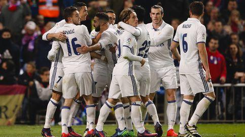 El fiestón de los jugadores del Real Madrid tras ganar al Atlético de Madrid