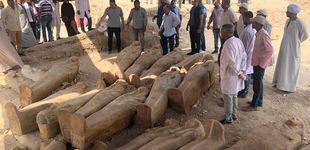 Post de Egipto encuentra veinte antiguos sarcófagos de madera cerca de Luxor