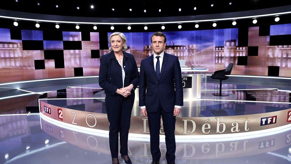 Foto: Debate entre Le Pen y Macron antes de las elecciones. (Reuters)