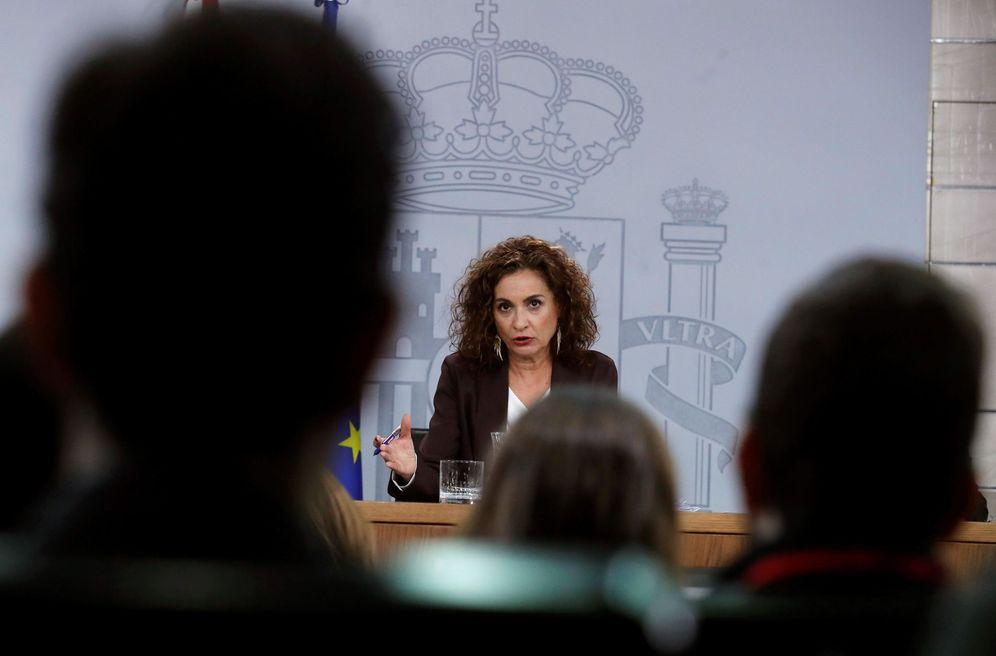 Foto: La portavoz del Gobierno, María Jesús Montero, este 21 de enero en la Moncloa. (EFE)
