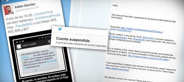 Foto: Así suspendió Twitter ilegalmente mi cuenta